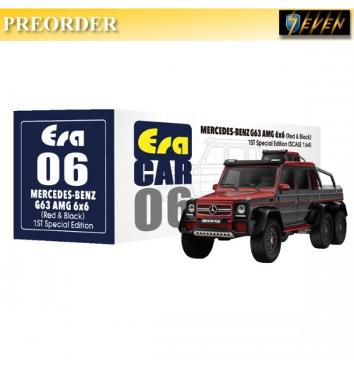 PREORDER: Era Car 1/64 Mercedes-Benz - G63 AMG 6X6 1st Special Ed - Red & black: Diecast Model Car
